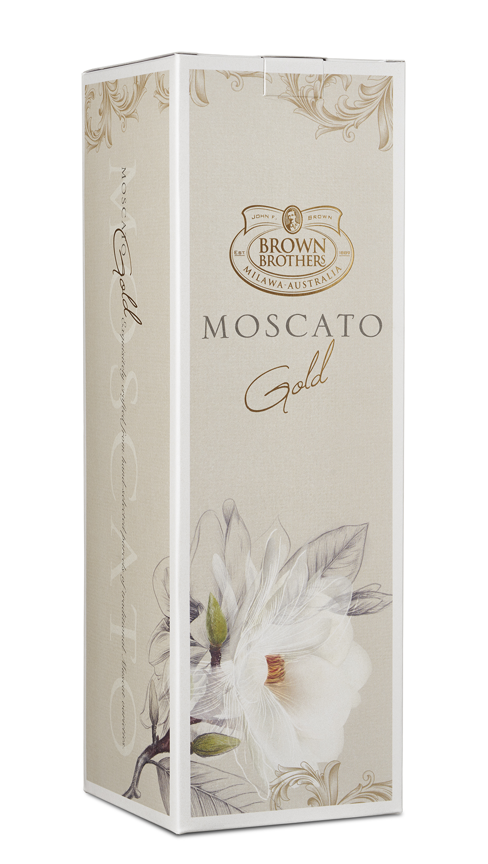 A generic gift carton could be used for either White Gold or the Rose Gold variant.