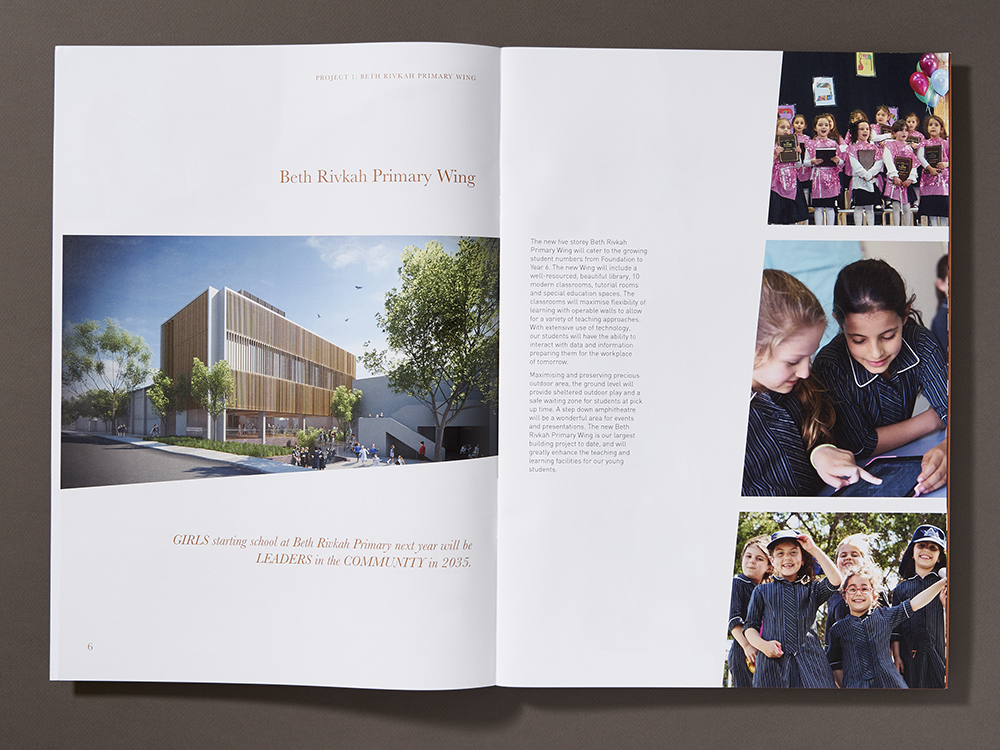 The design for this brochure and written content were developed hand-in-hand with the design giving structure and key communication points that were fleshed out in more detail by client.