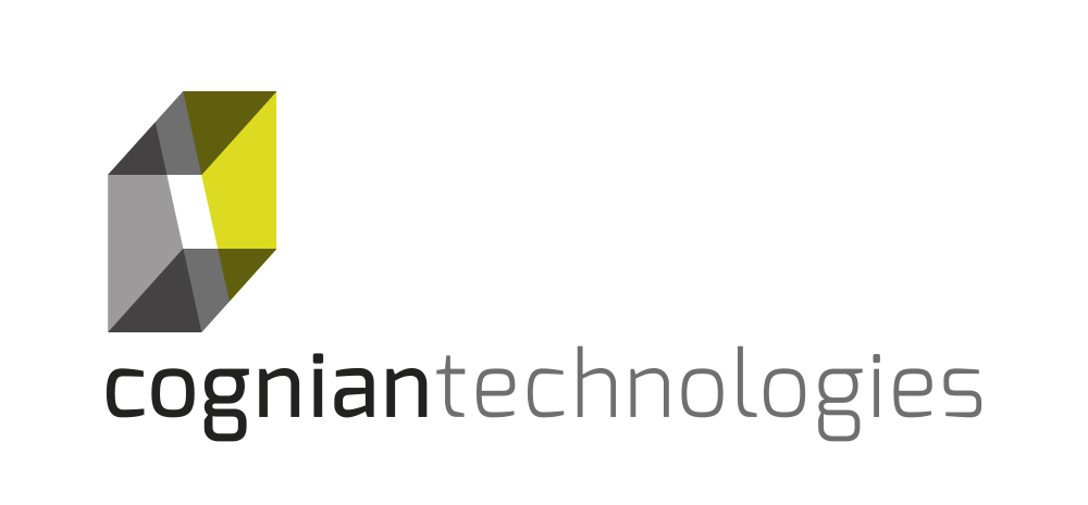Cognian Technologies is a fast-growing Australian technology company with a mission to make every building a smart building. The distinctive C Logo made from overlapping planes alludes to the built landscape but with an added twist - an optical illusion effect - that speaks to the innovative, disruptive technologies of the future. The colour palette of greys with bright acid yellow-green is modern and technical with a dash of illumination - lighting being a principle aspect of smart building transformation using Syncromesh technology, developed by Cognian.